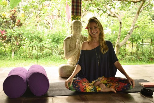 Yoga teacher at Swasti Cottages