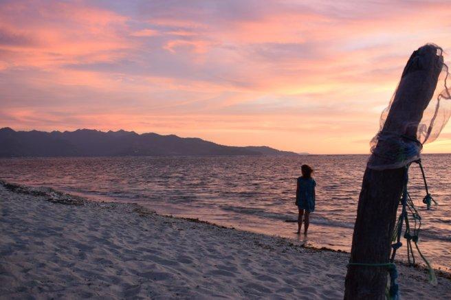 Beautiful sunset in Gili Air