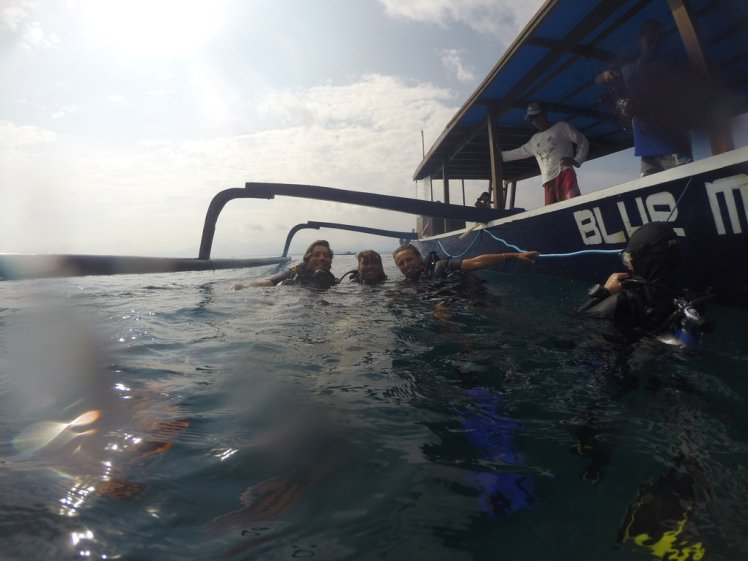 End of the PADI Open Water Course