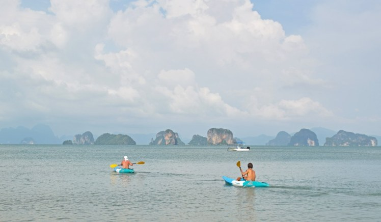Kayaking on Andaman sea