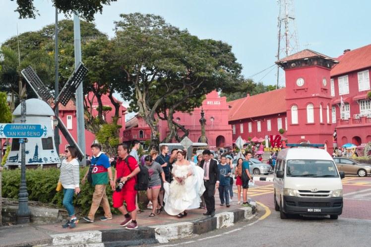 Turisti in Malacca