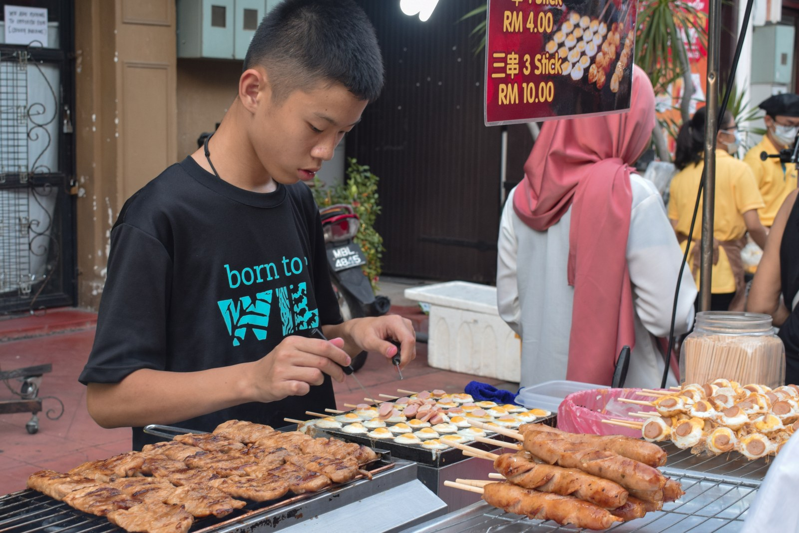 Mancare pe strada Malacca