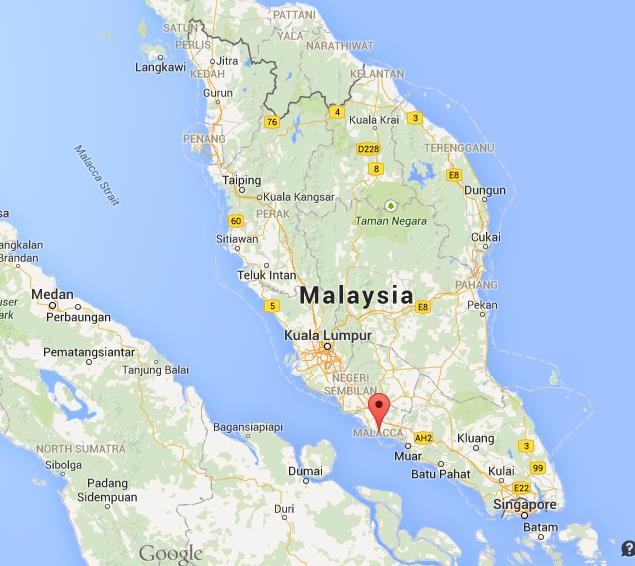Malacca harta